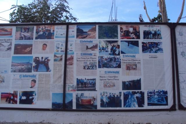 Mural informativo en San Bernardo